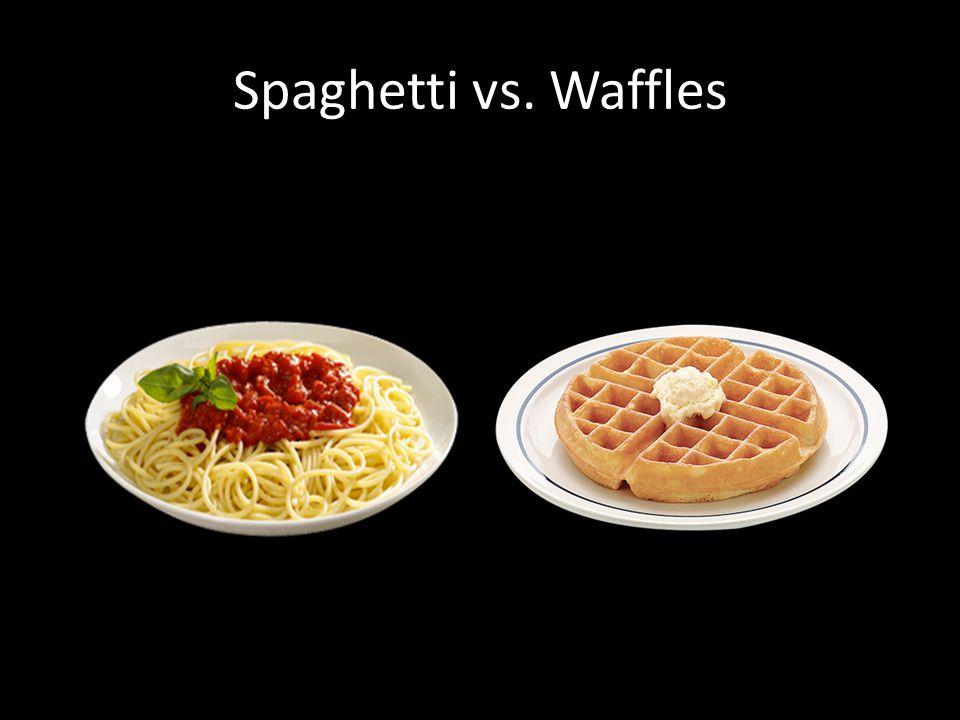 Spaghetti vs. Waffles
