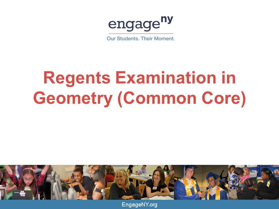 EngageNY.org Regents Examination in Geometry (Common Core)