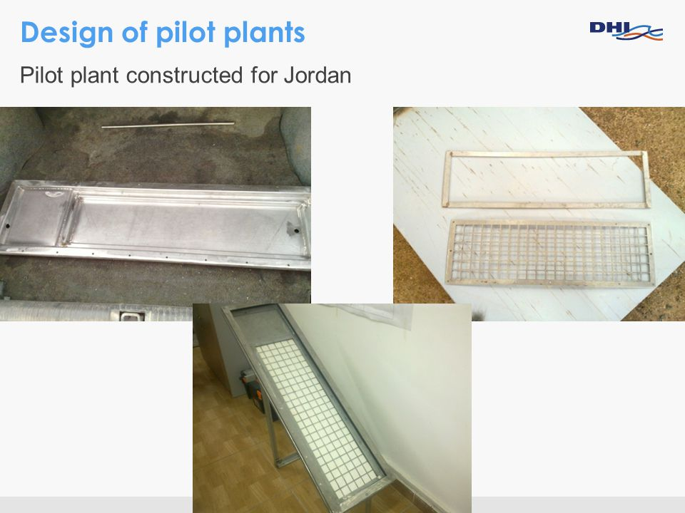 Design of pilot plants Pilot plant constructed for Jordan