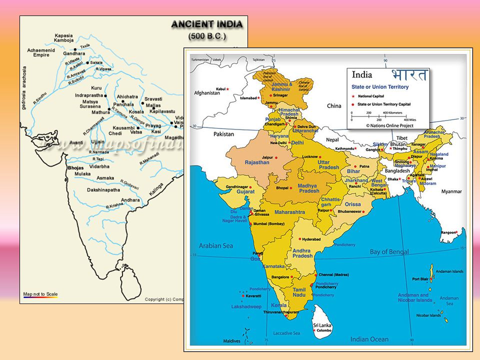 India's Geography As large as Europe (minus Russia) Population: 1.15 billion (2010 estimate) –Second only to China Himalayan Mountains (northeast) –Separate India from Tibet and western China Northwest –Historic route of land invasions Alexander the Great, Mughals Indian Ocean (route of British conquest) Climate –Hot (except in highlands) –Land – very fertile to semi-desert