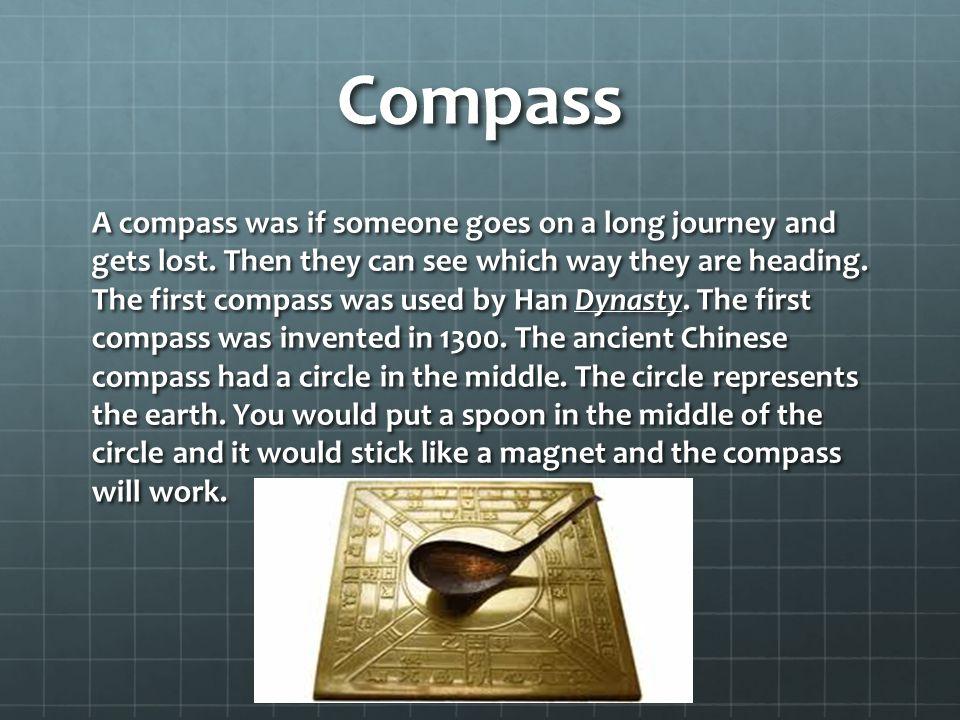 Gunpowder Gunpowder is a very important ancient invention.