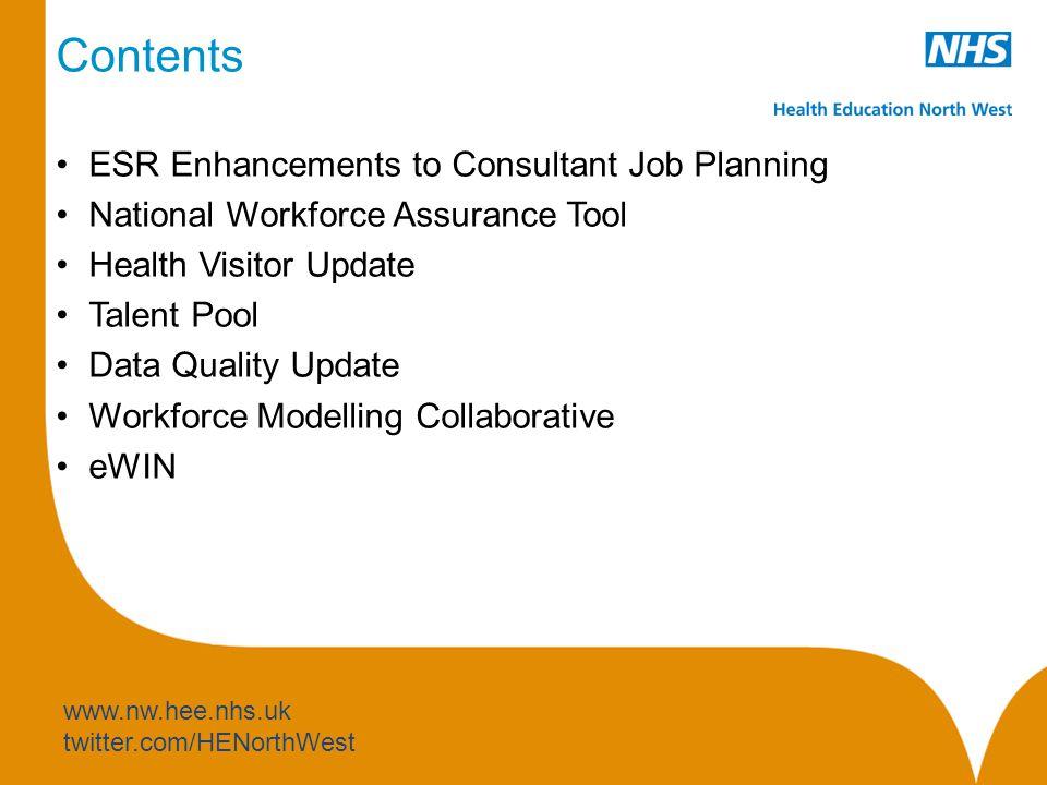 ESR Enhancements to ESR Job Planning