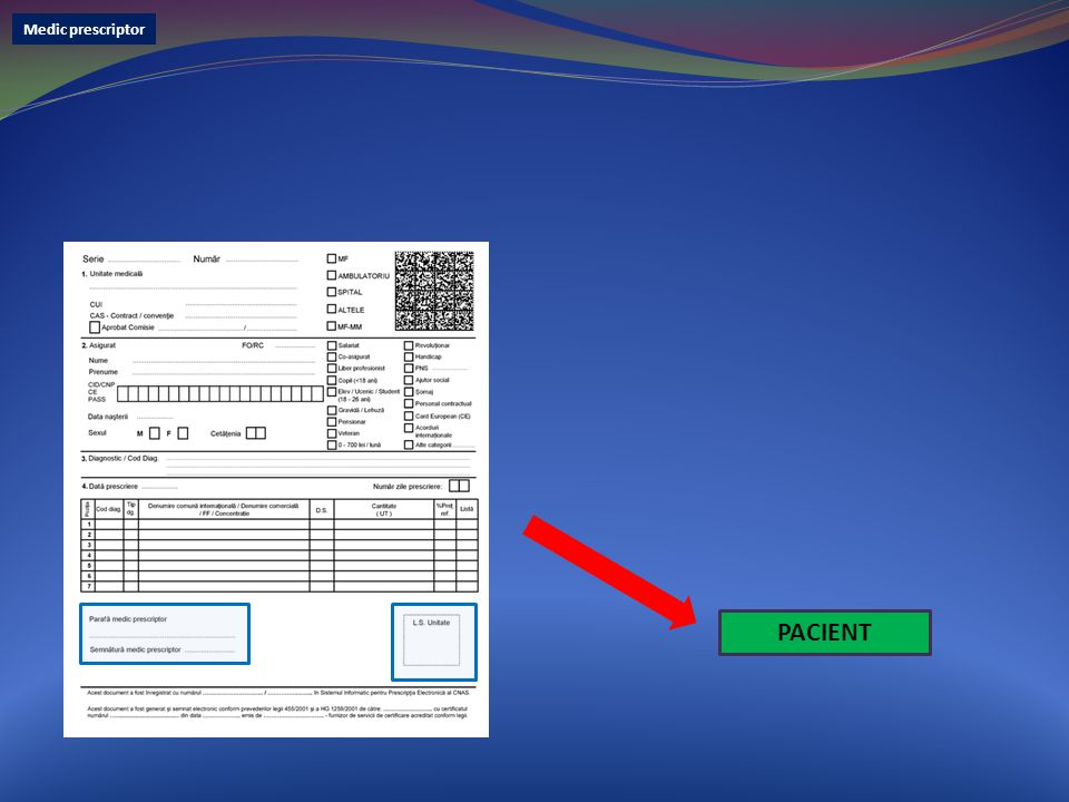 Medic prescriptor PACIENT