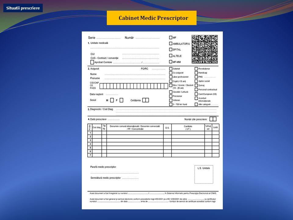 Cabinet Medic Prescriptor Situatii prescriere
