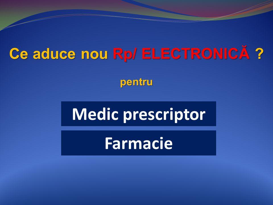 Medic prescriptor Ce aduce nou Rp/ ELECTRONICĂ pentru Farmacie