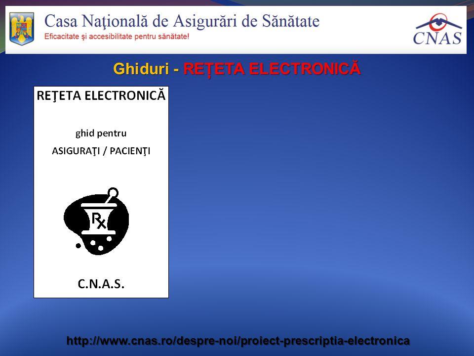 Ghiduri - REŢETA ELECTRONICĂ http://www.cnas.ro/despre-noi/proiect-prescriptia-electronica