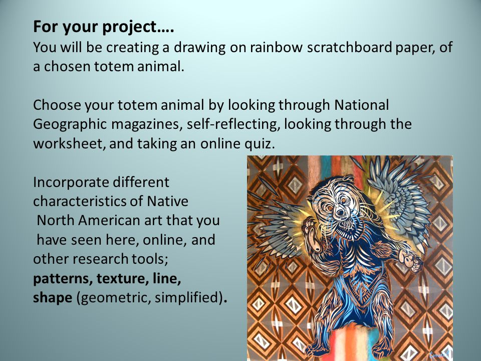 For your project….