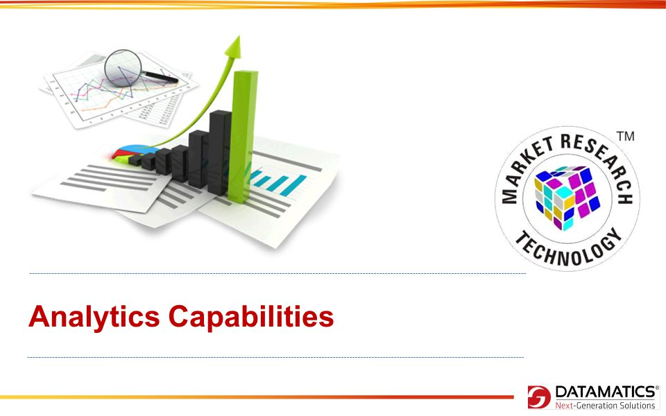 Content DATAMATICS' RESEARCH & ANALYTICS ADVANCE ANALYTICS CAPABILITIES OUR EXPERIENCES CONJOINT ANALYSIS RESEARCH TOOLS – SIMULATORS TECHNIQUES USED AT DATAMATICS Quality Check