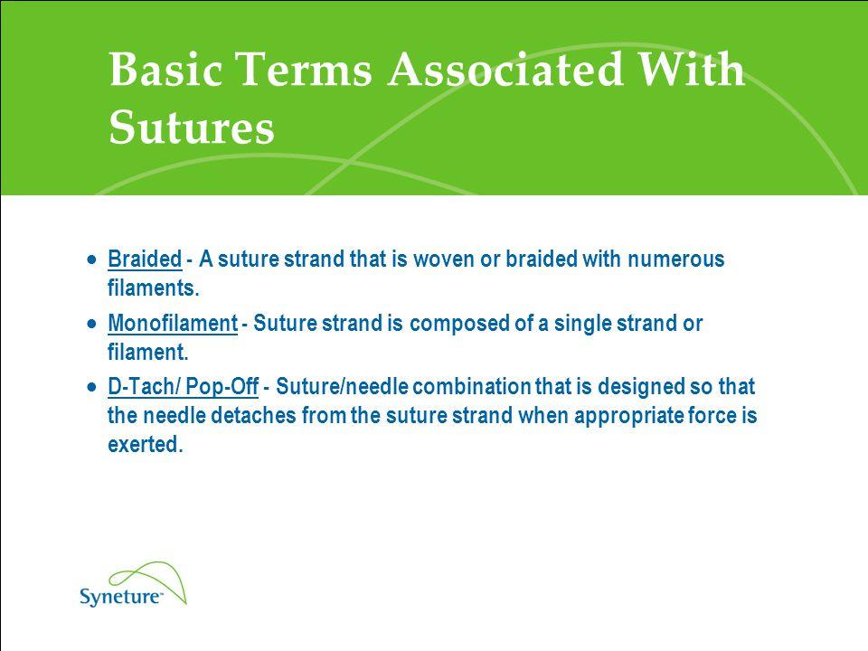 Suture Products Non Absorbable Sutures  Monofilament Nylon Sutures – Monosof (black) – Syneture – Dermalon (blue) - Syneture – Ethilon - Ethicon