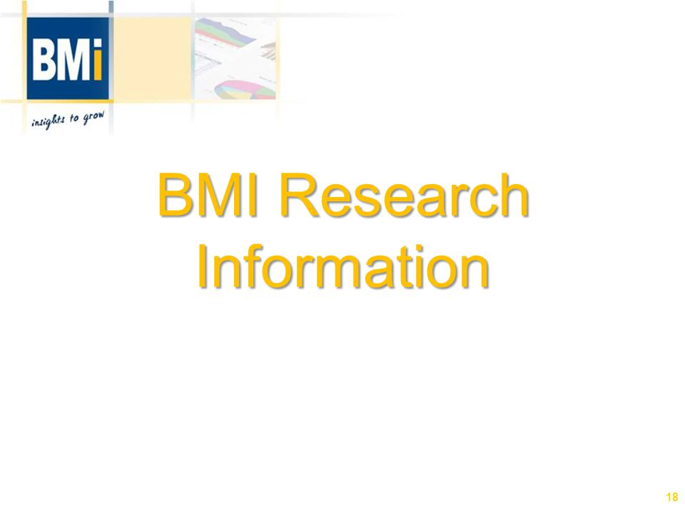 BMI Research Information 18