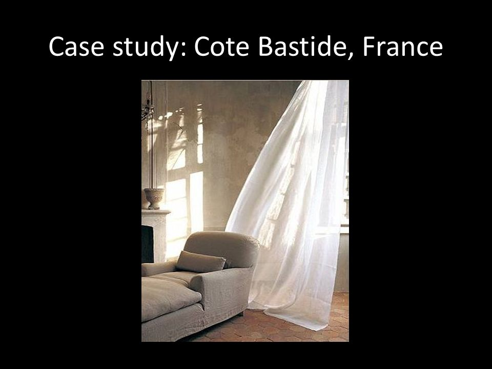 Case study: Cote Bastide, France