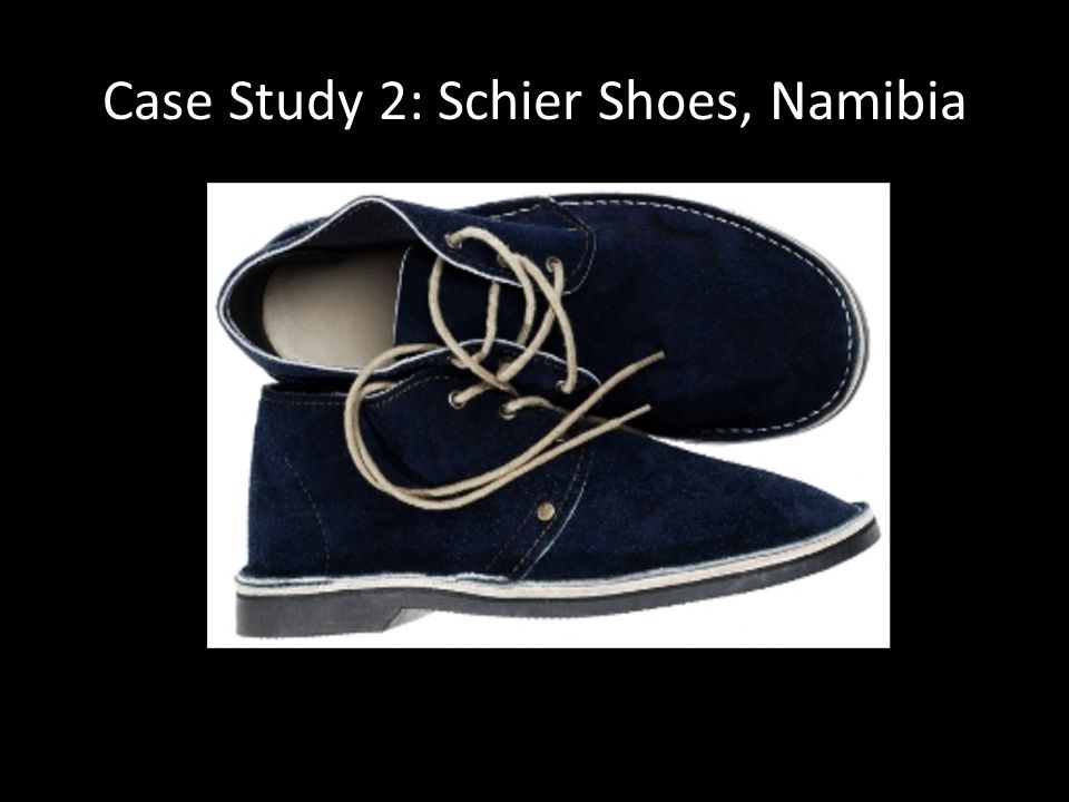 Case Study 2: Schier Shoes, Namibia
