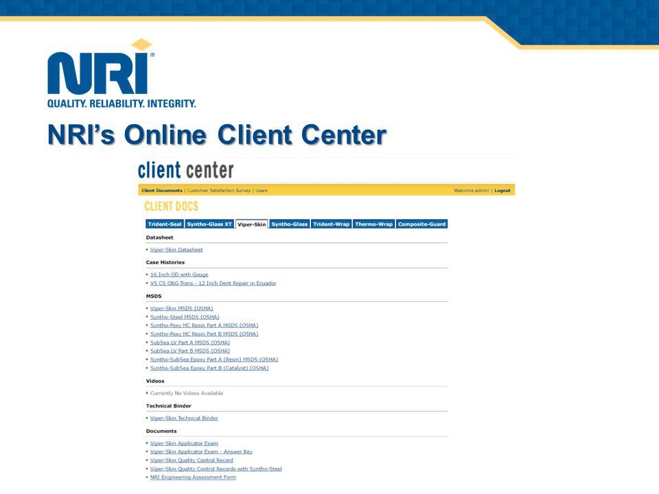 NRI's Online Client Center