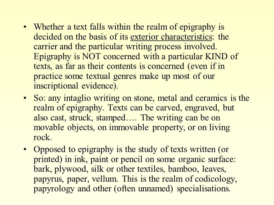 Inscriptions: