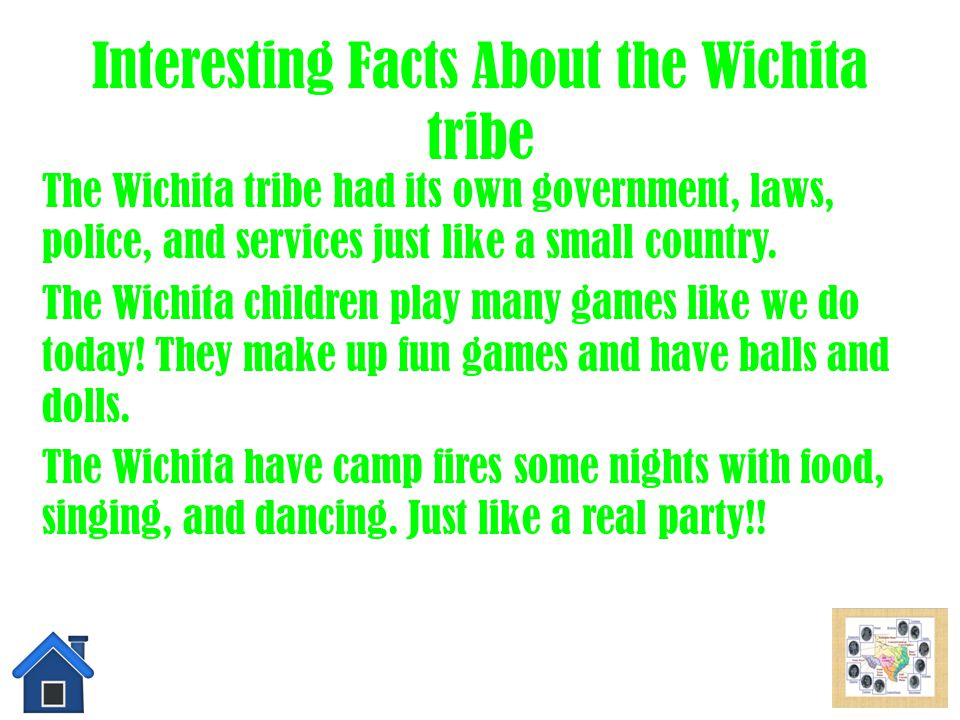 Tools & Weapons of the Wichita Tribe The Wichita Tribe used many tools and weapons, such as bow and arrows, hide shields, and war clubs. Soon they cam