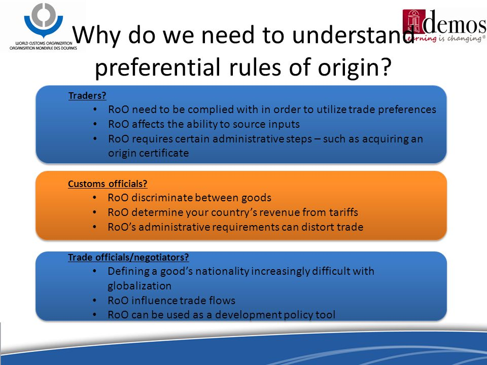 Why do we need to understand preferential rules of origin.