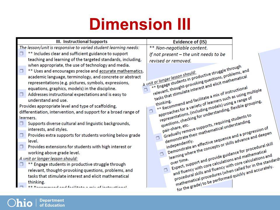 Dimension III