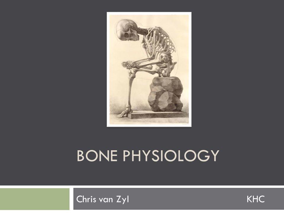 BONE PHYSIOLOGY Chris van ZylKHC