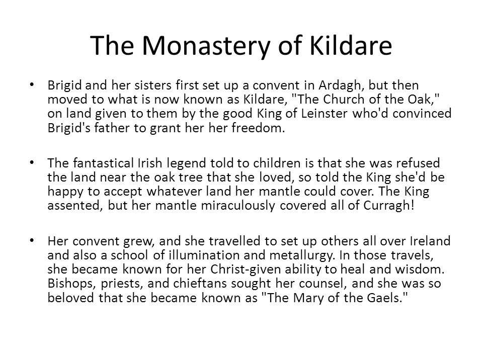 Kildare Abbey is a former monastery in County Kildare, Ireland, founded by St Brigid in the 5th century, and destroyed in the 12th century.