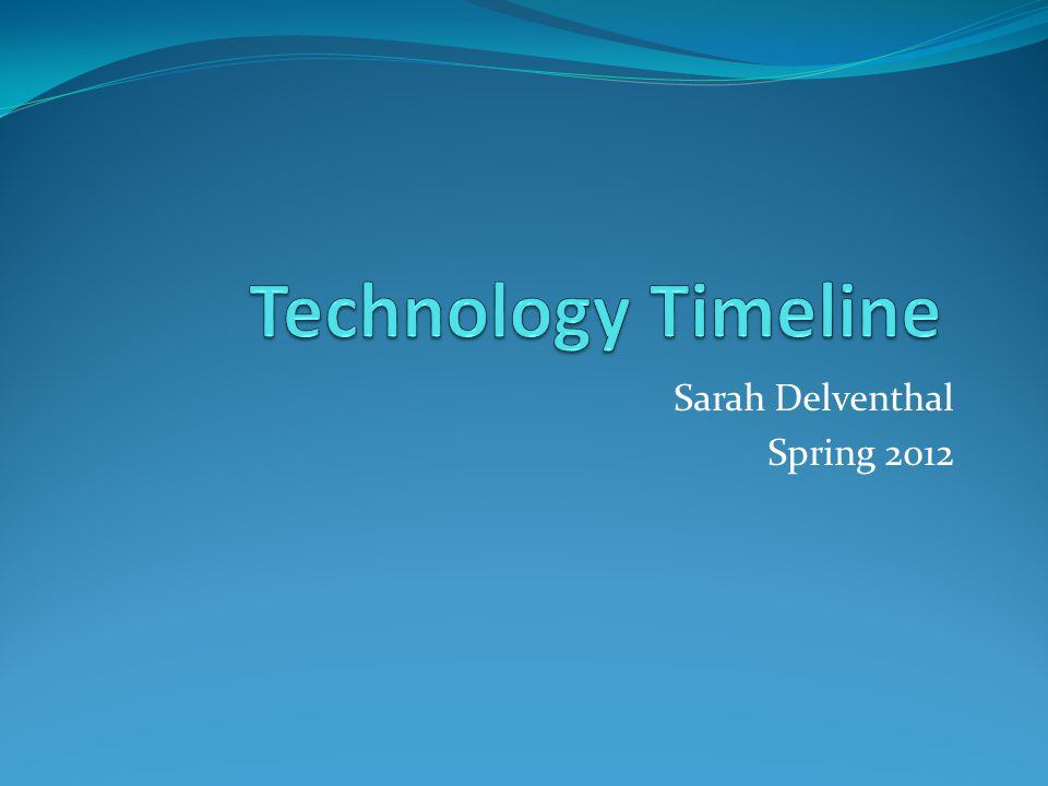 Introduction Definition of technology: Technology is something created to entertain you or help make your life easier.