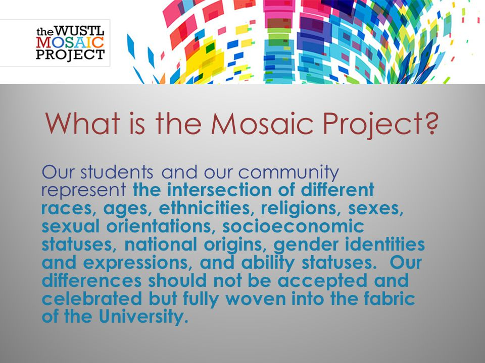 What is the Mosaic Project.