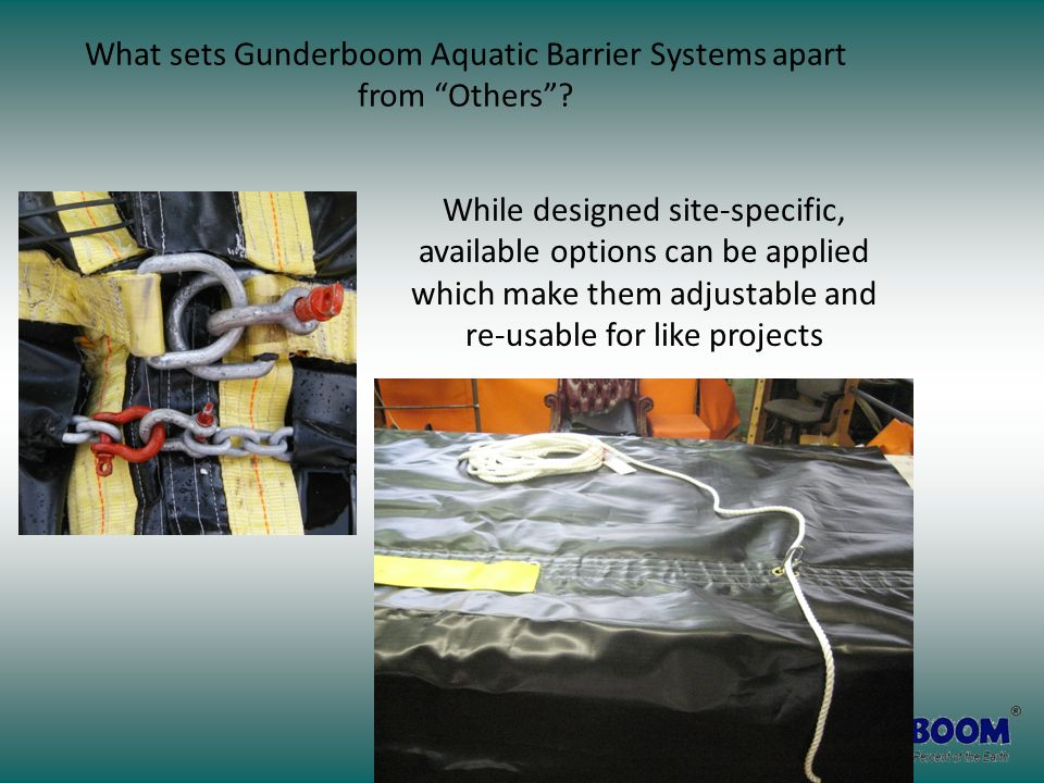 """What sets Gunderboom Aquatic Barrier Systems apart from """"Others""""? While designed site-specific, available options can be applied which make them adjus"""