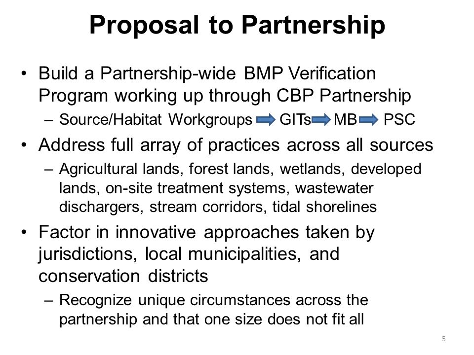 Requests for the Workgroup Development of protocols for ensuring non-significant permitted discharge facilities seeking credit for nutrient load reductions provide monitoring-based confirmation of load reductions –Some jurisdictions re-categorize to significant facility status and provide a facility specific allocation and monitoring requirements Development of protocols for ensuring non-significant facilities with no nutrient permits seeking credit for nutrient load reductions provide wastewater BMP- based confirmation of load reductions 16