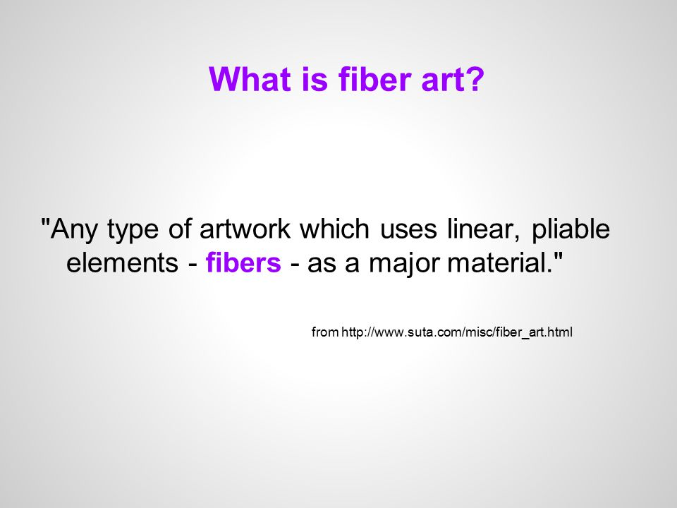 What is fiber art.