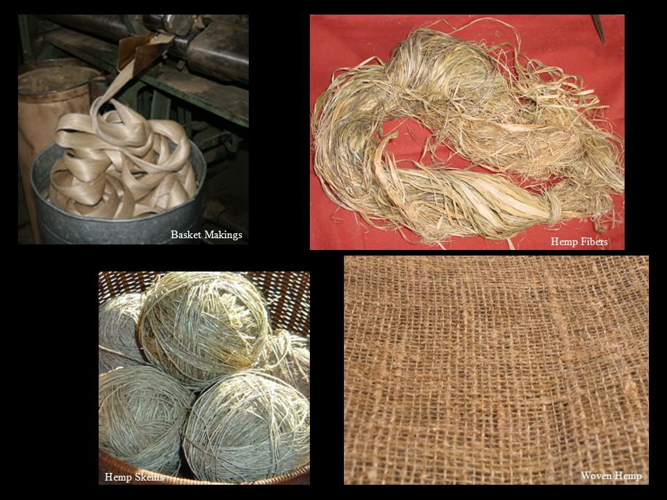 Woven Hemp Basket Makings Hemp Fibers Hemp Skeins