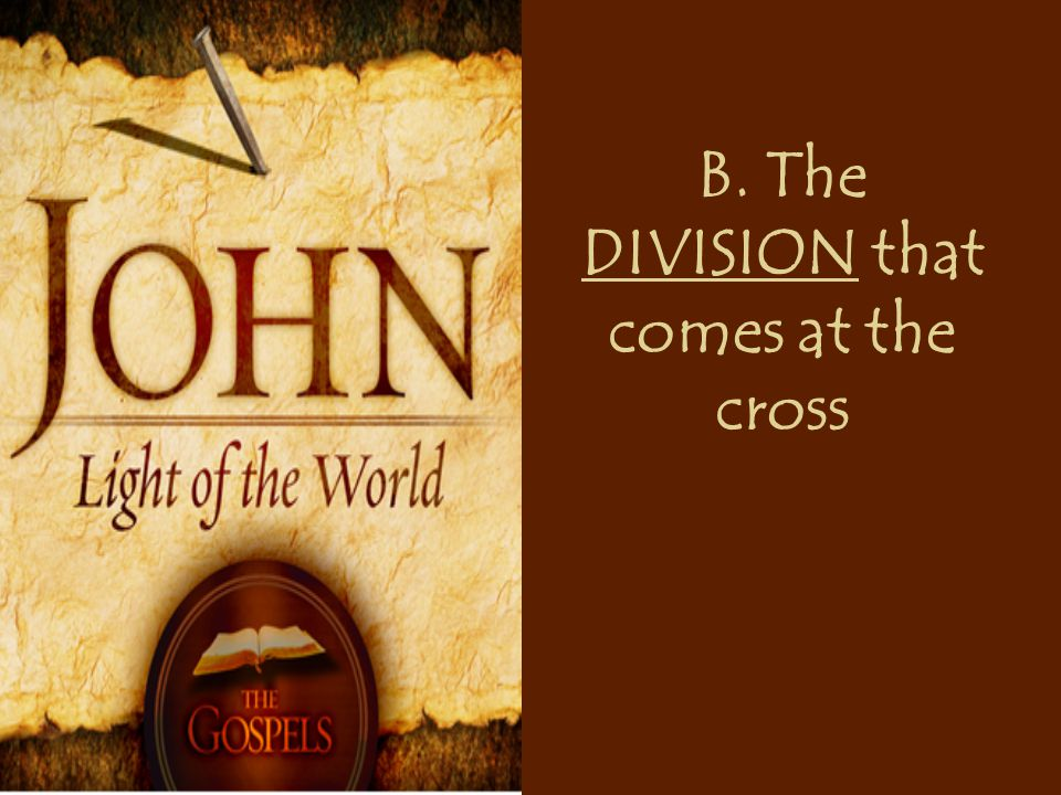 B. The DIVISION that comes at the cross