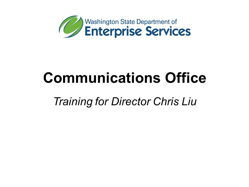 Communications Office Training for Director Chris Liu