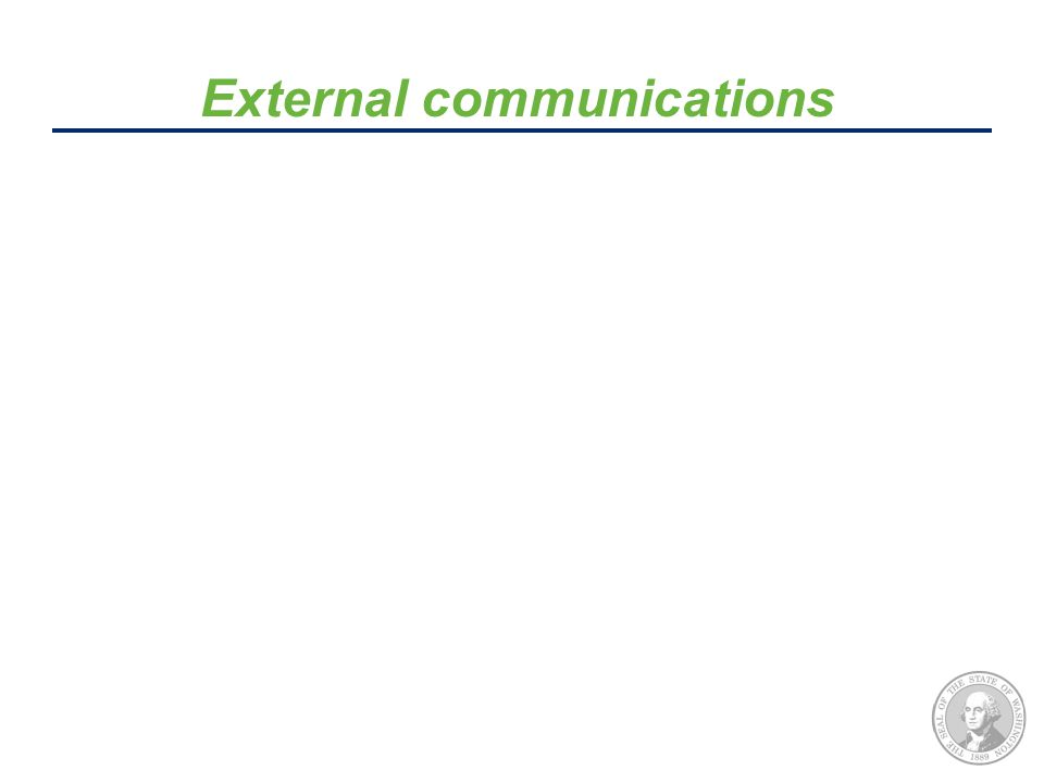 External communications