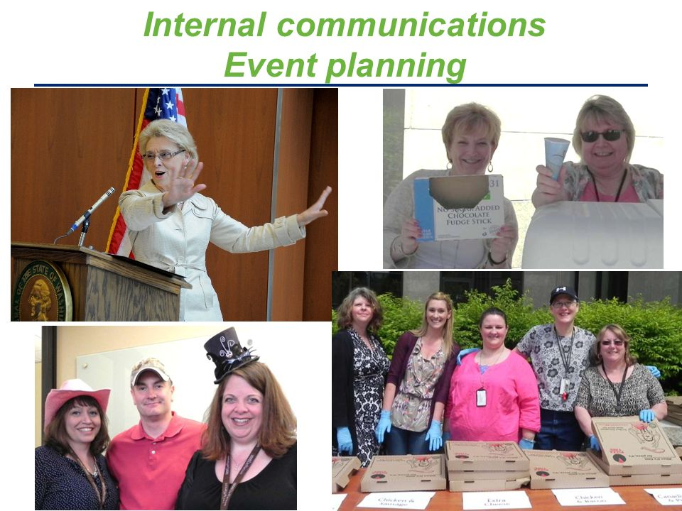 Internal communications Event planning