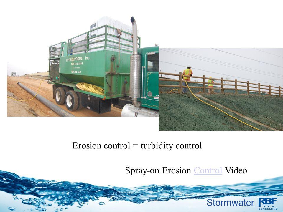 Stormwater Spray-on Erosion Control VideoControl Erosion control = turbidity control