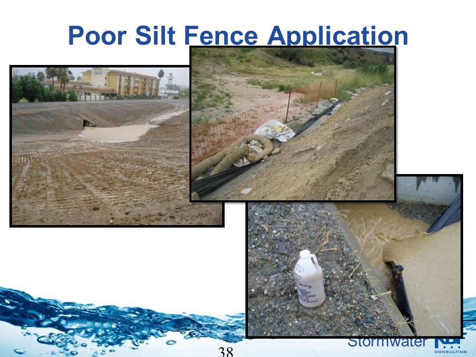 Stormwater 38 Poor Silt Fence Application