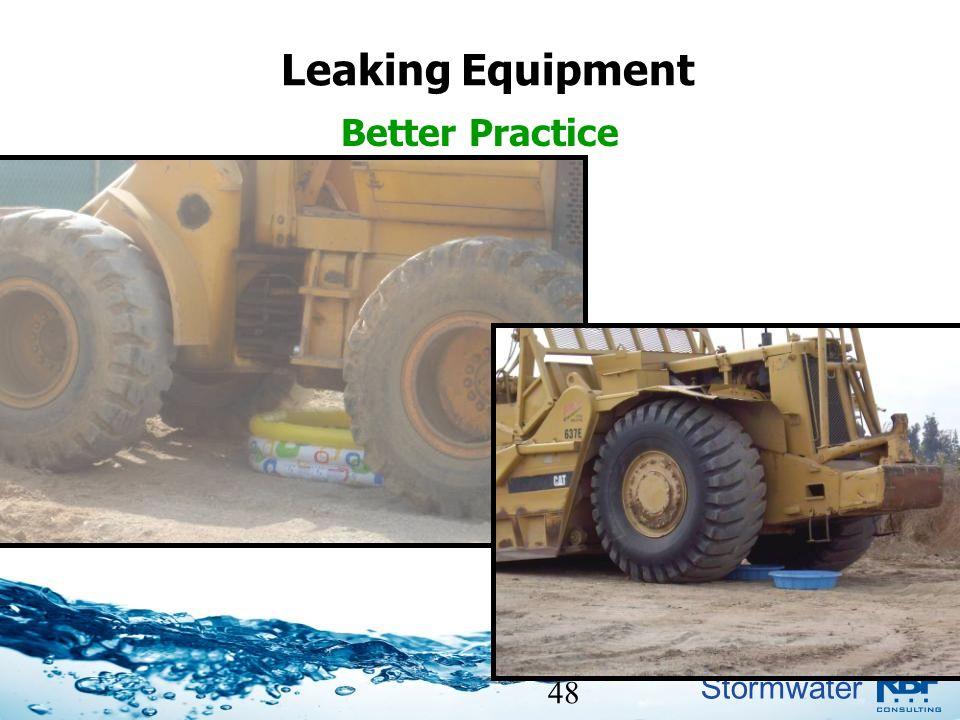 Stormwater 48 Leaking Equipment Better Practice