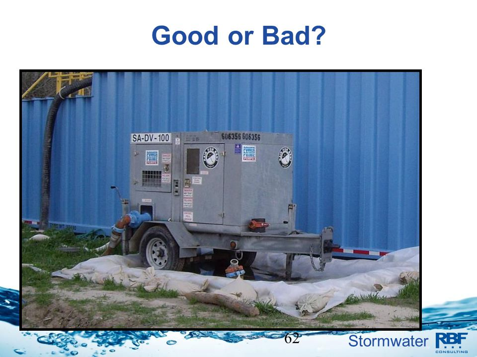 Stormwater 62 Good or Bad?