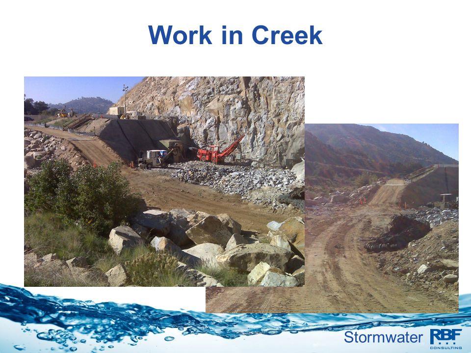Stormwater Work in Creek