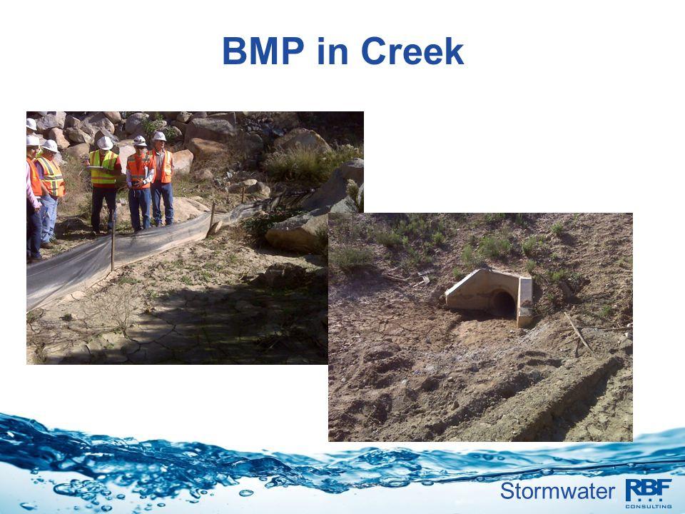 Stormwater BMP in Creek