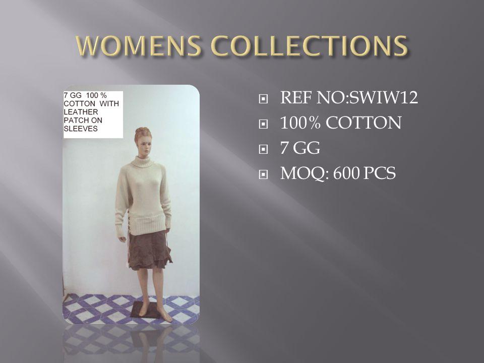  REF NO:SWIW12  100% COTTON  7 GG  MOQ: 600 PCS