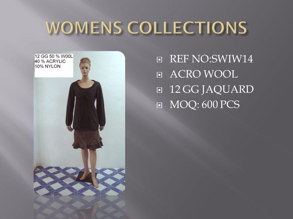  REF NO:SWIW14  ACRO WOOL  12 GG JAQUARD  MOQ: 600 PCS