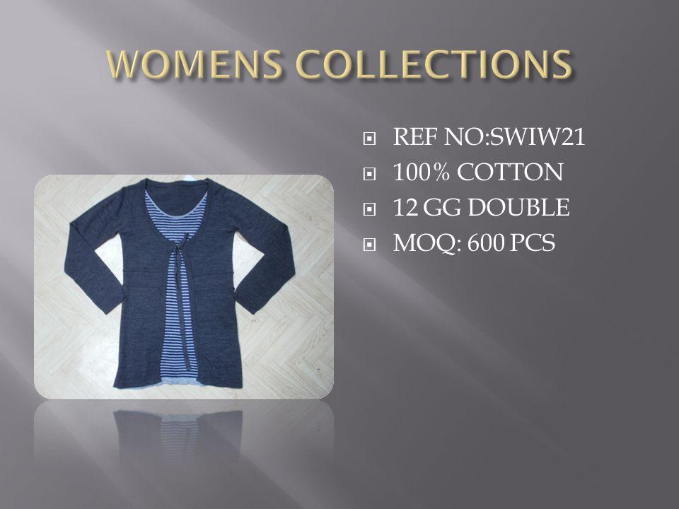  REF NO:SWIW21  100% COTTON  12 GG DOUBLE  MOQ: 600 PCS