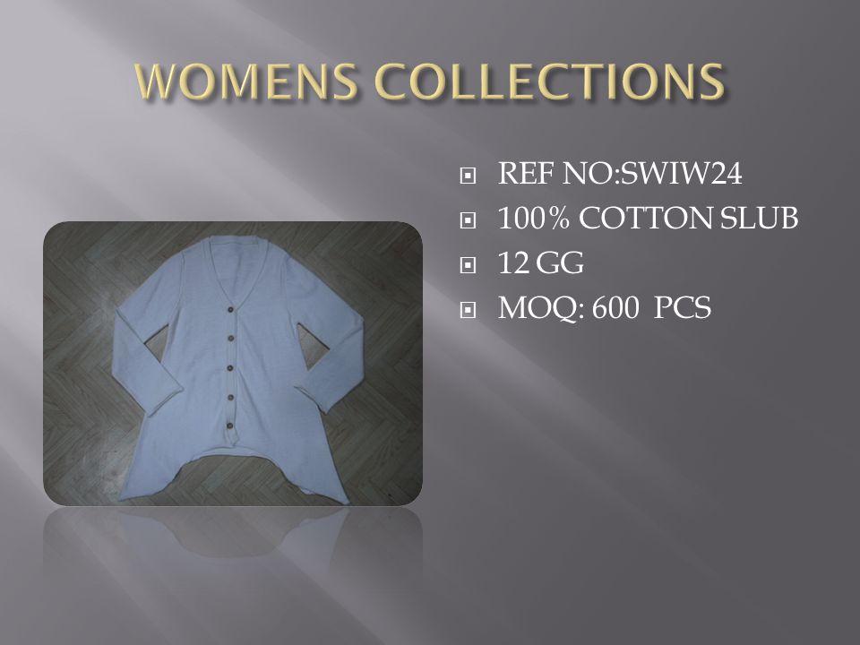  REF NO:SWIW24  100% COTTON SLUB  12 GG  MOQ: 600 PCS