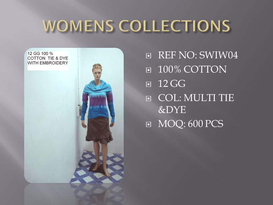  REF NO:SWIW05  100% COTTON  12 GG  COL: RED  HAND EMBROIDERY  WASH: SOFTNER  MOQ: 600 PCS