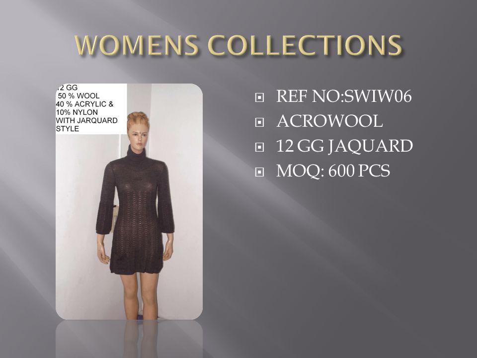  REF NO:SWIW06  ACROWOOL  12 GG JAQUARD  MOQ: 600 PCS