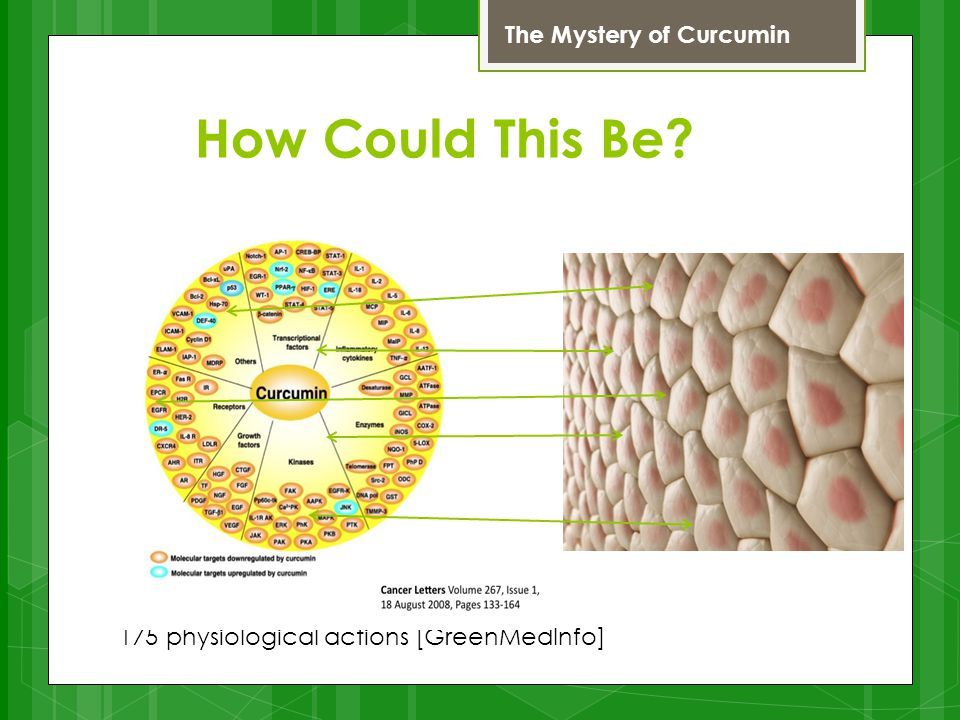 How Could This Be? 175 physiological actions [GreenMedInfo] Curcumin The Mystery of Curcumin