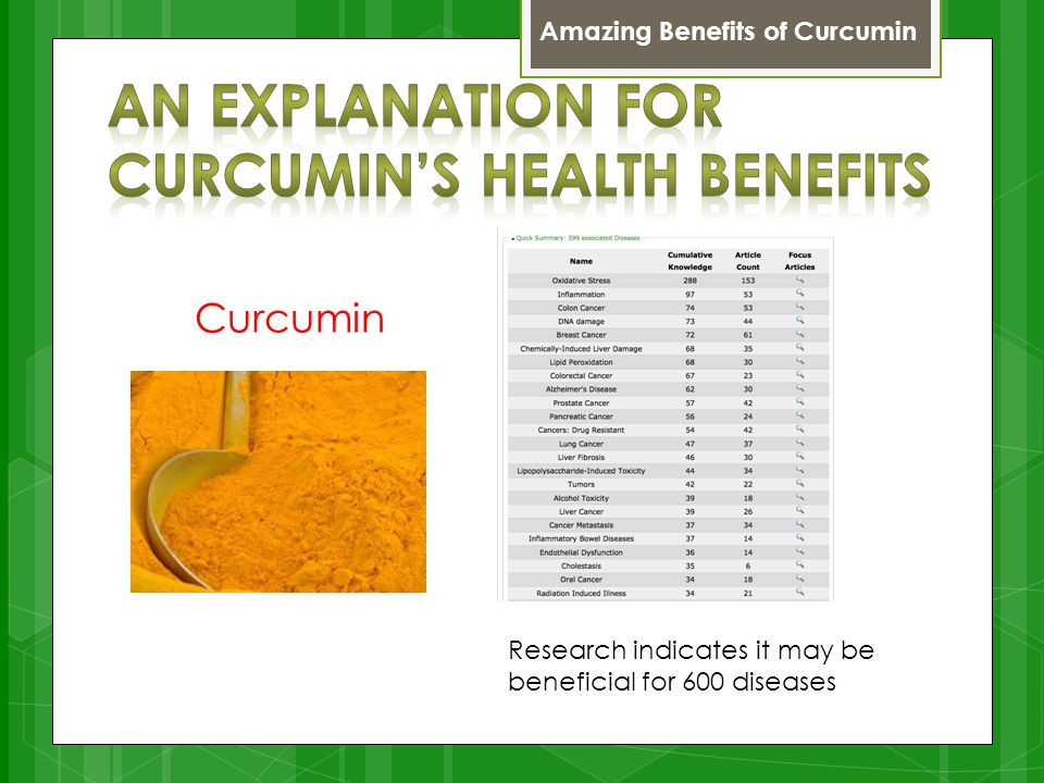 Curcumin Research indicates it may be beneficial for 600 diseases Amazing Benefits of Curcumin