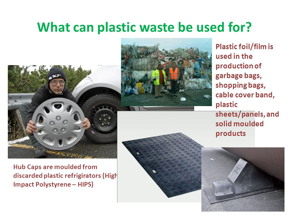 What can plastic waste be used for.