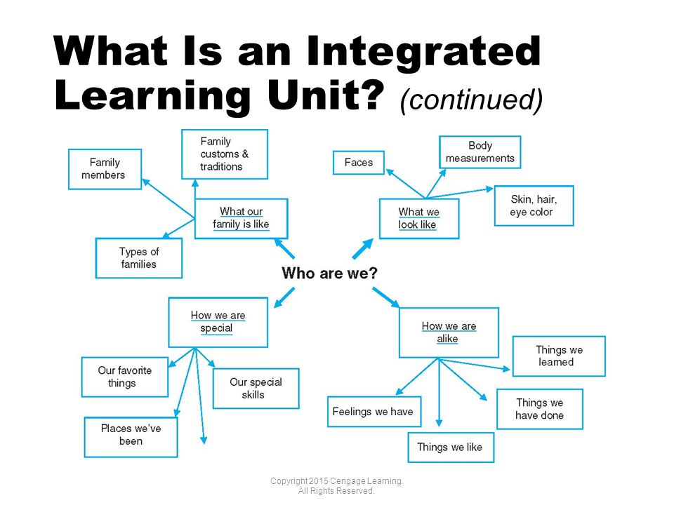 What Is an Integrated Learning Unit. (continued) Copyright 2015 Cengage Learning.