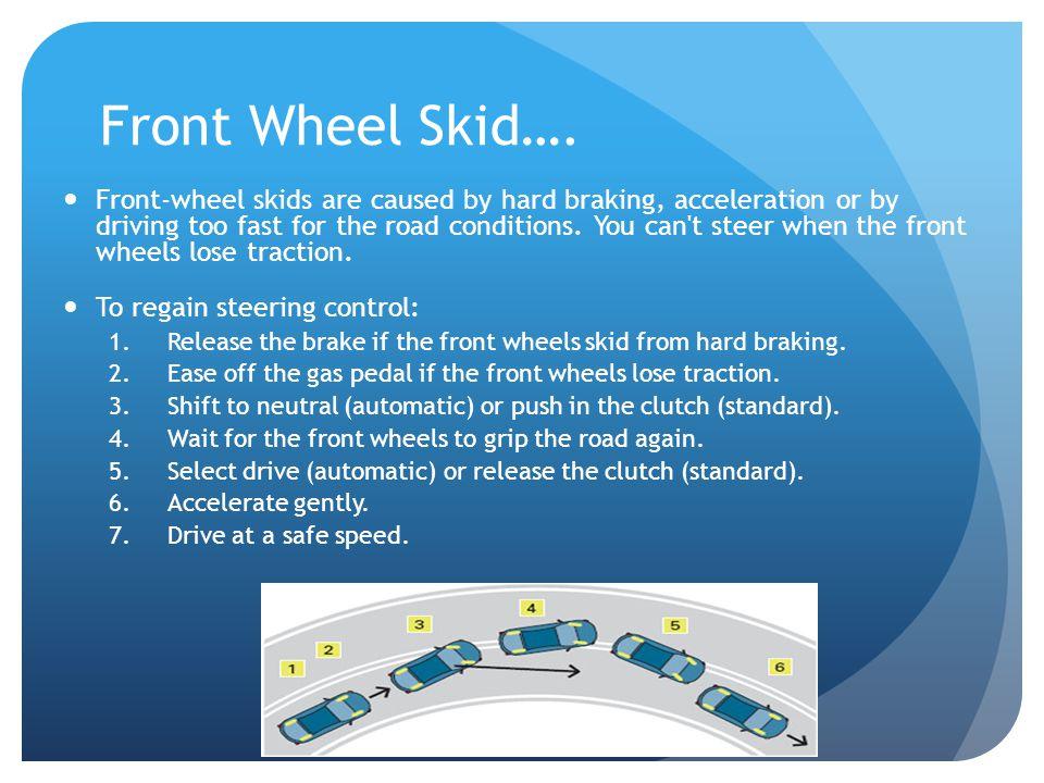 Front Wheel Skid….